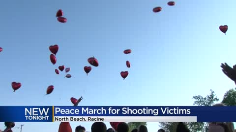 Racine community holds peace march for North Beach shooting victims